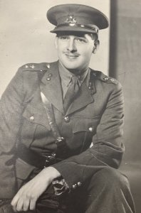 A black and white photograph of Cyril Harrington in his uniform